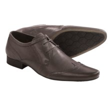 H by Hudson Ellington Wingtip Shoes- Leather (For Men) in New Dye Grey - Closeouts