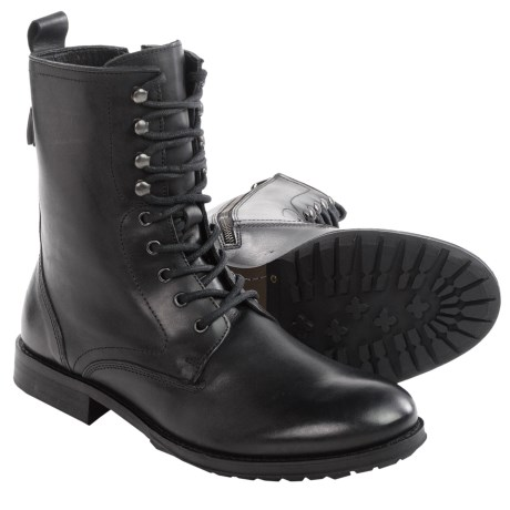 H by Hudson Foxton Military Leather Boots For Men