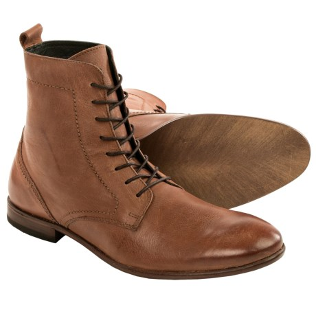 H by Hudson Songsmith Calfskin Boots Lace Ups (For Men)