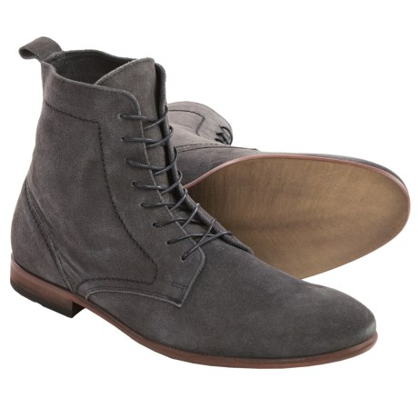 H by Hudson Songsmith Lace Up Boots Suede For Men