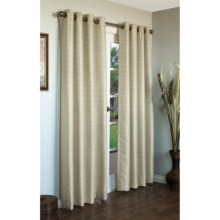 "Habitat Black Magic Curtains - 84"", Grommet-Top, Faux Silk in Celery - Closeouts"