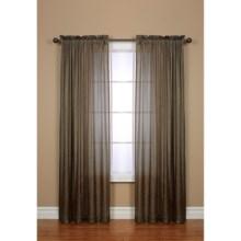 "Habitat Briana Semi-Sheer Curtains - 96x84"", Rod Pocket in Taupe - Closeouts"