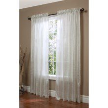 "Habitat Brianna Semi-Sheer Curtains - 96x84"", Rod Pocket in Ivory - Closeouts"