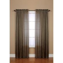 "Habitat Brianna Semi-Sheer Curtains - 96x84"", Rod Pocket in Taupe - Closeouts"