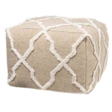 "Habitat Burchell Medallion Square Pouf - 20x20x14"" in See Photo - Closeouts"