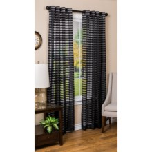 "Habitat Cabot Semi-Sheer Curtains - 112x84"", Grommet-Top in Black - Closeouts"