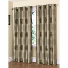 "Habitat Caesar Curtains - 104x95"", Grommet-Top in Linen/Green - Closeouts"