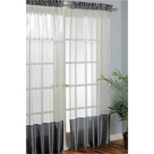 "Habitat Carlton Curtains - 100x84"", Pole-Top in Pewter - Closeouts"
