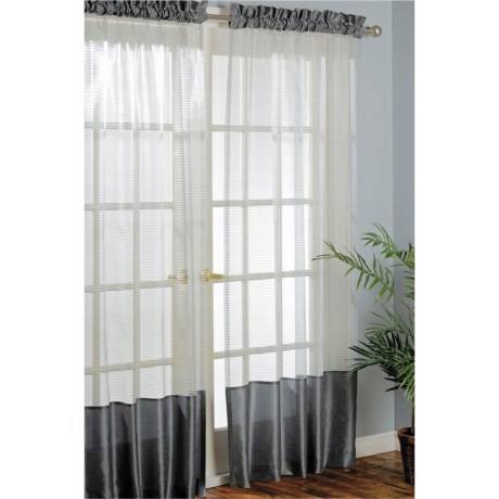 "Habitat Carlton Curtains - 100x84"", Pole-Top in Pewter"