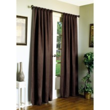 "Habitat Casa Faux-Silk Curtains - 86x84"", Back Tab in Brown - Closeouts"