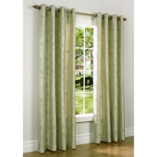"Habitat Chateau Embroidered Chenille Curtains - 108x72"", Grommet-Top in Sage - Closeouts"