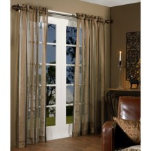 "Habitat Chenille Stripe Curtains - 100x84"", Pole-Top in Brown - Overstock"