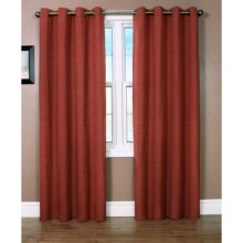 "Habitat Cite Curtains - 100x95"", Grommet Top in Sienna - Closeouts"
