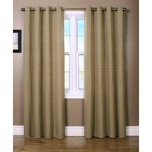 "Habitat Cite Curtains - 100x95"", Grommet Top in Taupe - Closeouts"