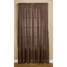"Habitat Cote D'Azure Tailored Semi-Sheer Curtains - 112x95"", Pole-Top in Brown - Closeouts"