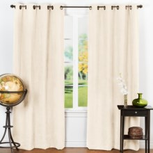 "Habitat Fanfair Curtains - Grommet Top, 104x63"" in Natural - Closeouts"