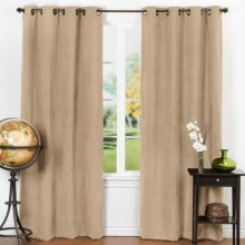 "Habitat Fanfair Curtains - Grommet Top, 104x84"" in Khaki - Closeouts"