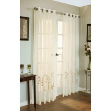 "Habitat Ginger Semi-Sheer Embroidered Curtains - 108x95"", Grommet-Top in Ivory - Closeouts"