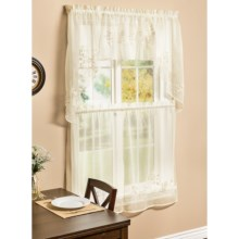 "Habitat Hydrangea Curtain Swag - 54x36"" in Cream - Closeouts"