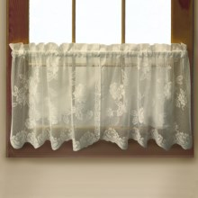 "Habitat Leeanne Lace Valance - 60x16"", Rod Pocket in Ivory - Closeouts"