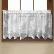 """Habitat Leeanne Lace Valance - 60x16"""", Rod Pocket in White - Closeouts"""