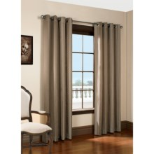 "Habitat Lehigh Linen Blend Curtains - 102x84"", Grommet-Top in Coffee - Closeouts"