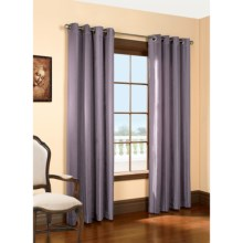 "Habitat Lehigh Linen Blend Curtains - 102x84"", Grommet-Top in Plum - Closeouts"