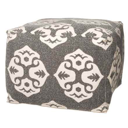 "Habitat Medallion Brustin Square Pouf - 20x20x14"" in See Photo - Closeouts"