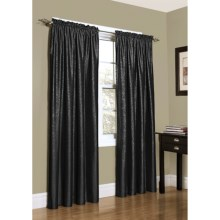 "Habitat Metallic Taffeta Curtains - 84"", Rod Pocket in Black - Closeouts"