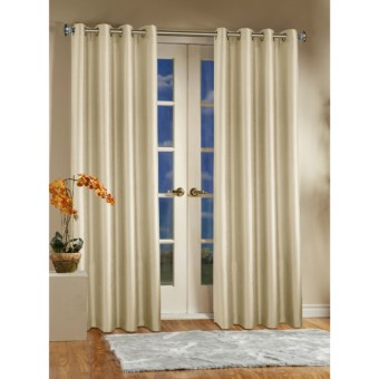 "Habitat Milano Curtains - 108x84"", Grommet-Top in Natural"