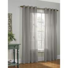 "Habitat Milano II Faux-Silk Curtains - 108x84"", Grommet Top in Grey - Closeouts"