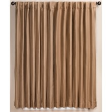 "Habitat Mystique Curtains - 108x84"", Back Tab, Faux Satin in Butter Rum - Closeouts"