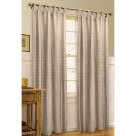 "Habitat Princess Faux-Satin Curtains - 84x84"", Tab-Top in Taupe"
