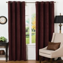 "Habitat Razorback Curtains - 106x84"", Grommet Top in Cranberry - Closeouts"
