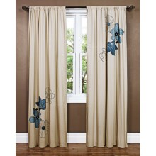 "Habitat Santander Flip Curtains - 84x84"", Grommet-Top in Santander - Closeouts"