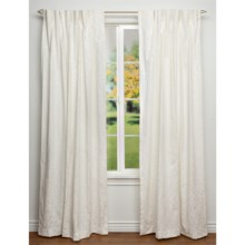 "Habitat Tonal Leaf Jacquard Curtains - 64x84"", Pinch Pleat in Off White - Closeouts"