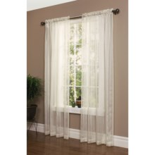 "Habitat Voile Stripe Curtain Sheers - 86x84"", Rod Pocket in Ivory - Closeouts"