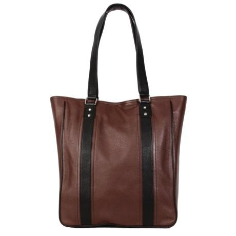 HADAKI City Tote Bag - Leather (For Women) in Cognac