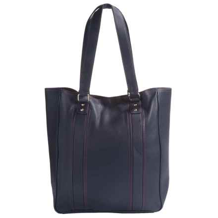 HADAKI City Tote Bag - Leather (For Women) in Navy - Closeouts