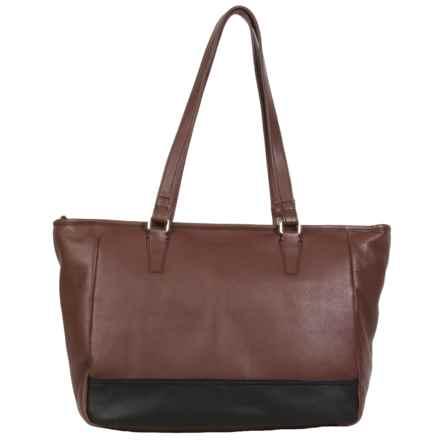 HADAKI Cosmopolitan Tote Bag - Leather (For Women) in Cognac - Closeouts