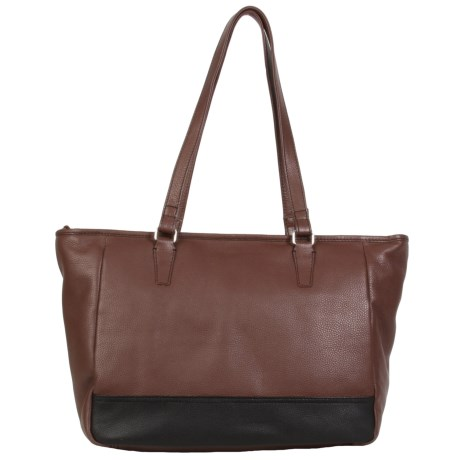 HADAKI Cosmopolitan Tote Bag - Leather (For Women) in Cognac