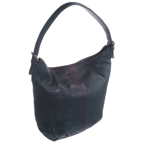 HADAKI Slouchy Hobo Bag - Leather (For Women) in Navy