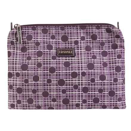 "Hadaki Zip Travel Pouch - 7.5x10"" (For Women) in Plum Perfect Plaid - Closeouts"