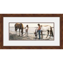 "Hadley House Framed ""Connections"" Print by Steve Hanks - Limited Edition, 19x35"" in See Photo - Closeouts"