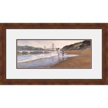 "Hadley House Framed ""Morning at Bakers Beach"" Print by Steve Hanks - Limited Edition, 20x40"" in See Photo - Closeouts"