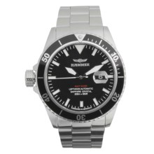 Haemmer Navy Diver Automatic Watch - Stainless Steel Bracelet in Black/Stainless Steel - Closeouts