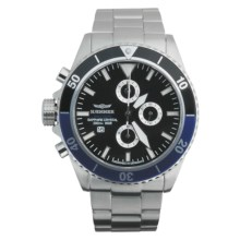 Haemmer Navy Diver Chronograph Watch in Black/Blue/Stainless Steel - Closeouts