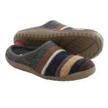 Haflinger AT Jesse Boiled Wool Slippers (For Women) in Grey - Closeouts