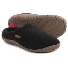 Haflinger AT Power Slippers - Boiled Wool (For Women) in Black - Closeouts