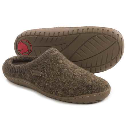 Haflinger AT Power Slippers - Boiled Wool (For Women) in Khaki - Closeouts